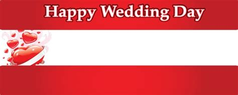 Flag Happy Wedding wedding day hearts personalised banner partyrama co uk