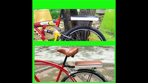 como instalar parrilla  asiento  bicicleta youtube