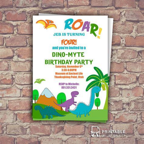 Dinosaurs Free Birthday Invitation Template Wedding Invitation Templates Printable Dinosaur Birthday Invitation Template