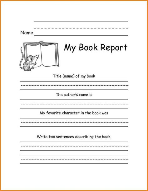 grade book report template 10 book report template 2nd grade western psa