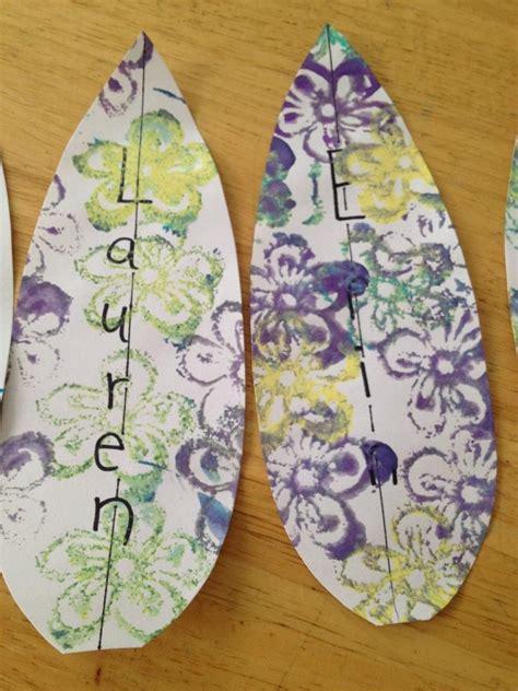 surfboard craft for surfboard kindergarten and preschool arts crafts