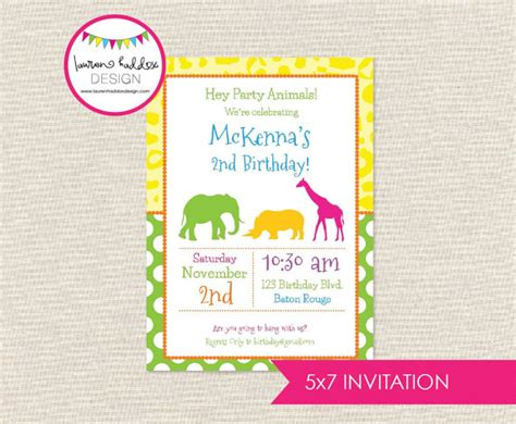 Zoo Invitation Letter Diy Zoo Animal Invitation Only By Haddox