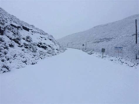 snow in south winter wonderland as snow arrives in south africa and