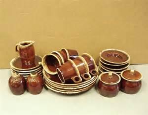 Mikasa Vase Vintage Hull Brown Drip Crestone Pottery Dinnerware Big Lot 32