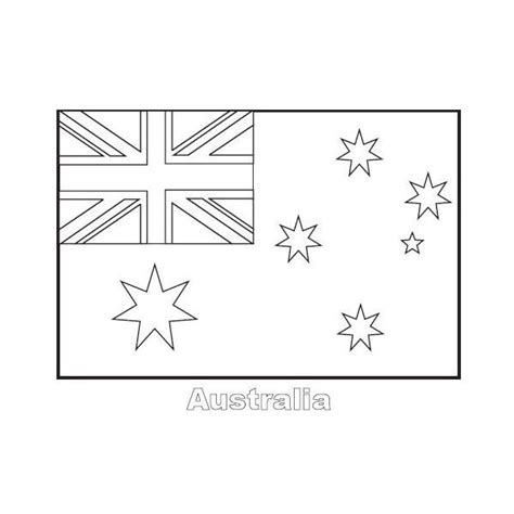 australian flag template to colour australia coloring pages