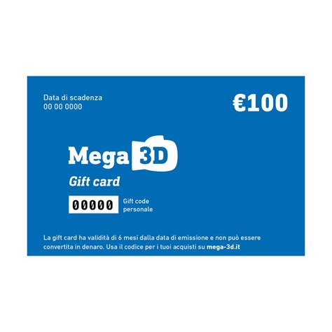Gift Card Free Shipping - mega 3d gift card 100 euros