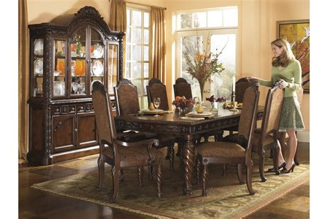 warm brown formal dining room sets for 8 with glass door