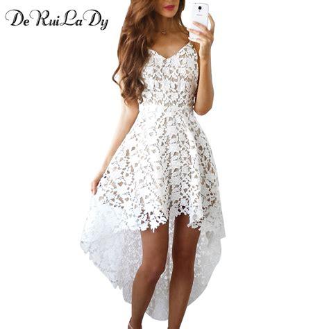 Miniso Womens Fashionable White deruilady summer fashion dress boho casual mini bodycon dresses white lace