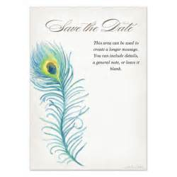 Peacock Template by Save The Date Peacock Feather Invitations Cards On