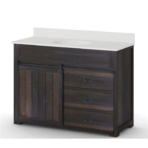 one sink bathroom vanity style selections distressed java 48 in undermount single