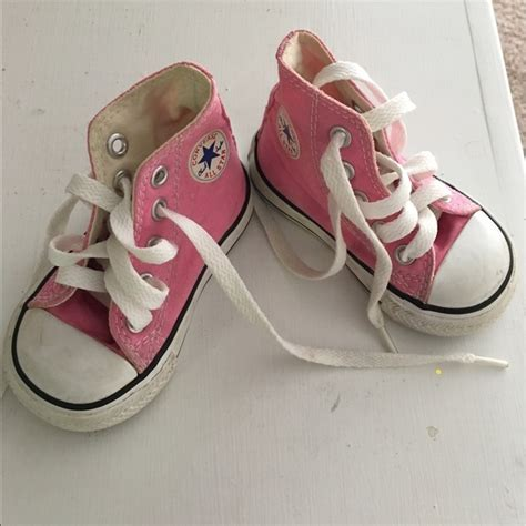 tennis shoes size 3 converse pink converse tennis shoes infant size 3 from