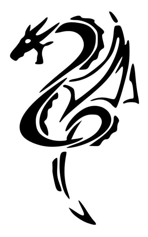 clipart black dragon left tattoo
