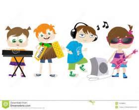Kids playing music stock photos image 10036883