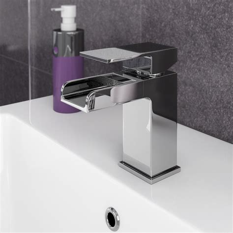 luxury brand no touch taps modern kitchen bathroom faucets plaza waterfall basin tap cheshire kitchens compare