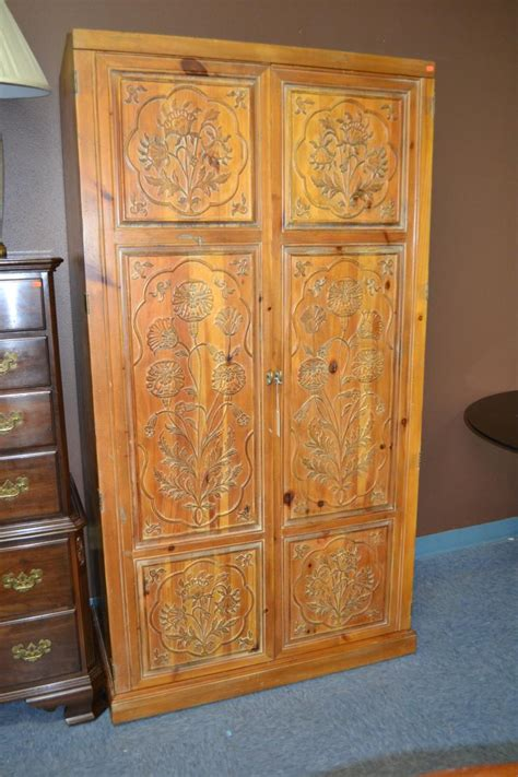 henredon armoire henredon carved wood armoire
