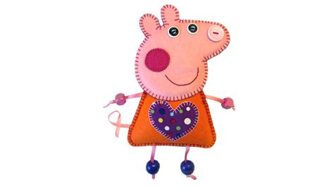 pattern for felt pig felt peppa pig tutorial with free pattern by lisa pay
