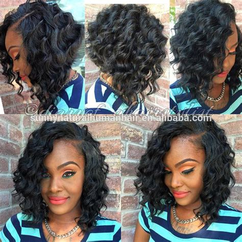 good human hair used in a bob funmi short curly bob brazilian hair wigs with baby hair