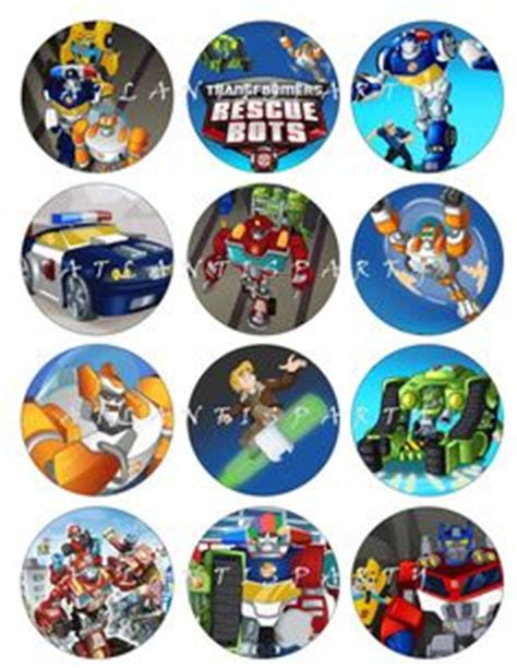 Cupcake Toppers Karakter Tema Foto 1 rescue bots birthday rescue bots birthday cake transformers rescue bots birthday