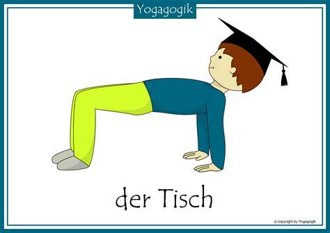 tisch yoga kinderyoga flashcards tisch kinderyoga pinterest