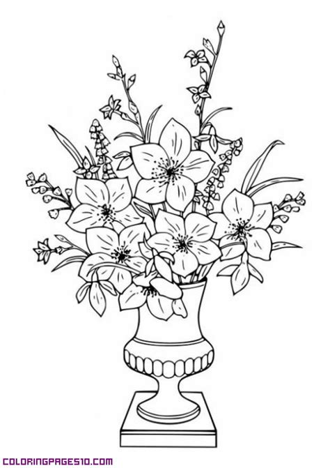 coloring pages of bunch of flowers bunch of roses coloring pages
