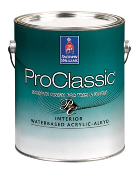 acrylic enamel paint for cabinets sherwin williams proclassic waterborne interior acrylic