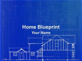 blueprint of houses home blueprint powerpoint template