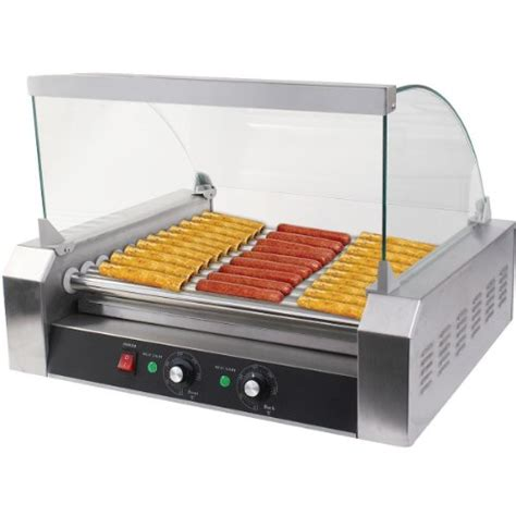 roller grill gopus roller commercial 30 11 roller grill cooker machine w cover ce new