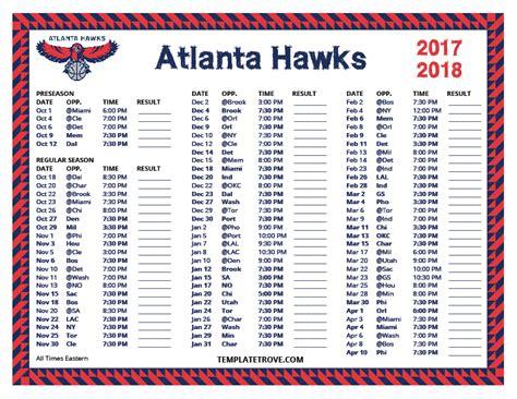 printable hawks schedule printable 2017 2018 atlanta hawks schedule