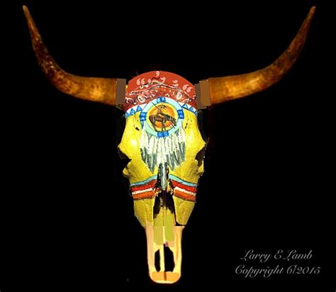 Decorated Cow Skulls For Sale by Custom Painted Steer Skulls For Sale By Larry