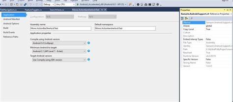xamarin tab bar tutorial c xamarin actionbarsherlockbinding app actionbar