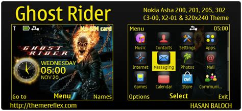 ghost themes for nokia x2 01 ghost rider theme themereflex