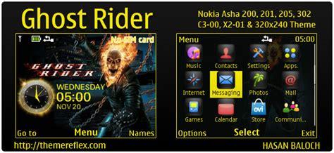 themes nokia ghost ghost rider theme for nokia c3 00 x2 01 asha 200 201