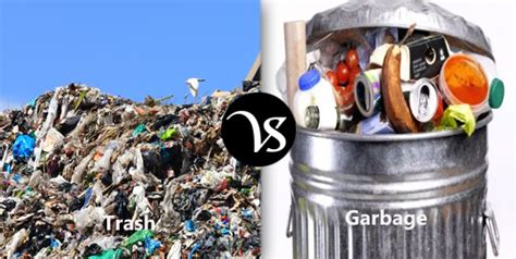 Difference between trash and garbage difference all