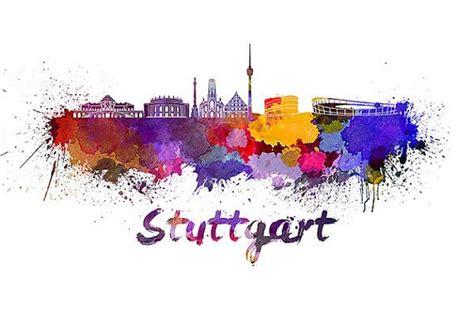 watercolor tattoo stuttgart stuttgart skyline in watercolor instant