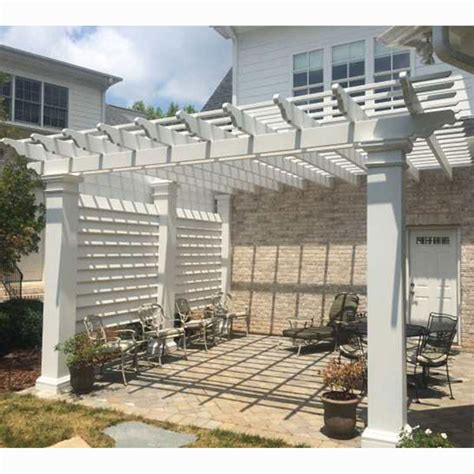 Rail Fx Hb910120 8 Privacy Screen For 12 X 12 Pergola Us Pergola Privacy Screens