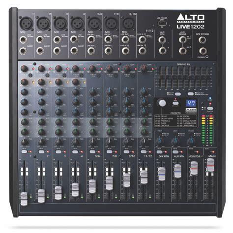 Mixer Alto Live 1202 alto professional live 1202 12 channel 2 mixer with 7 xlr inputs musical