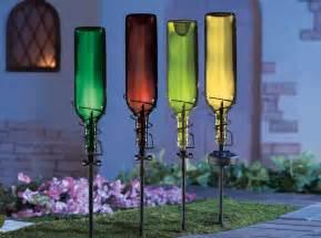 Solar String Lights Outdoor Patio - painted wine bottle lighting ideas