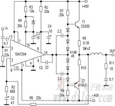Tda7296 Lifier Circuit Diagram tda 7293 cu tranzistoare lificatoare audio portalul