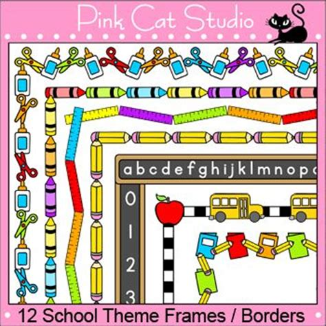 education theme images borders and frames clip art school theme clip art