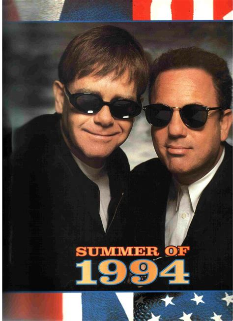 elton john milwaukee this is the program for the summer of 1994 billy joel and