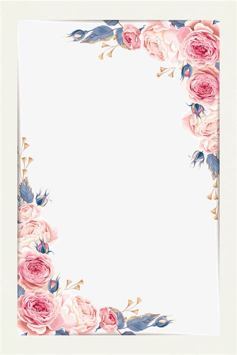 backdrop border design beautiful little fresh border vector material flower