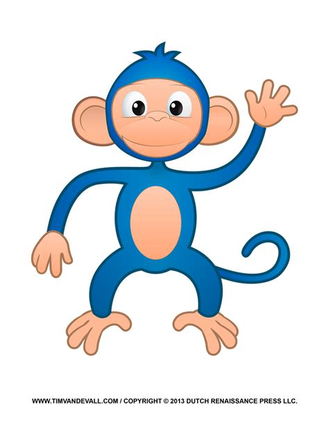 Happy Monkey Blue blue monkey clipart