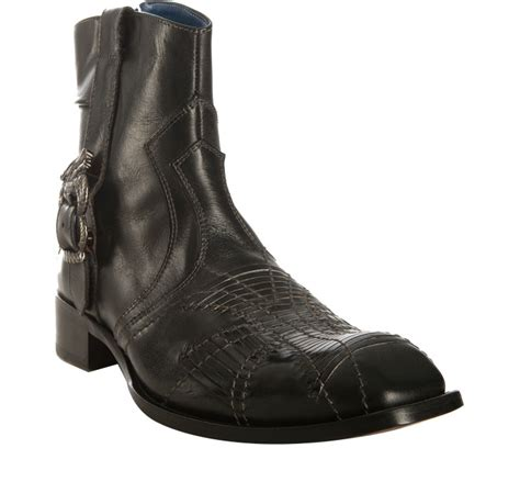 nason boots nason black leather shanty ankle boots in black for
