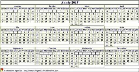Calendrier 4ème Trimestre 2015 à Imprimer Calendrier 2015 Format Paysage