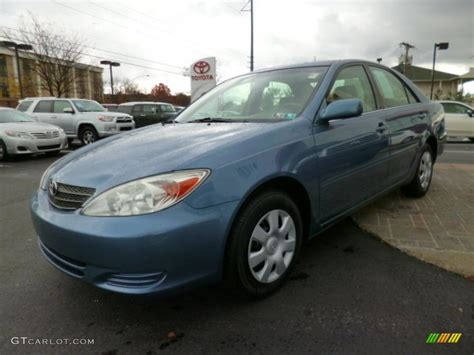 2004 blue toyota camry blue metallic 2004 toyota camry le exterior photo