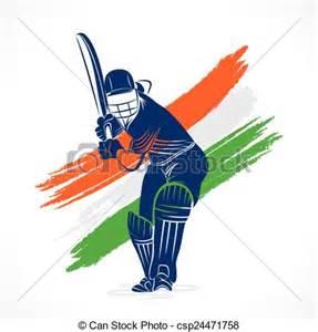 clipart vector of cricket banner design indian cricket