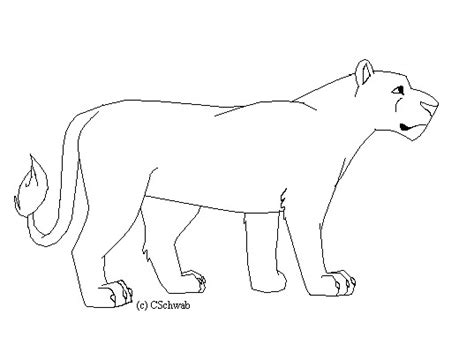 lioness free coloring pages