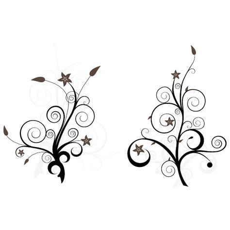 imagenes blanco y negro vectores flor rama con hojas vector descarga en vectorportal