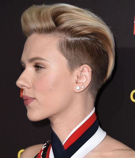 scarlett o hara hairstyle scarlett johansson gets an undercut proves us wrong about