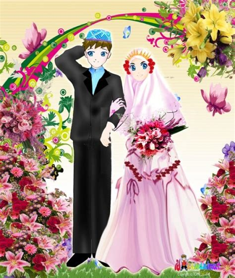 Animasi Wedding Muslim by Kartun Pernikahan Muslim Multi Info